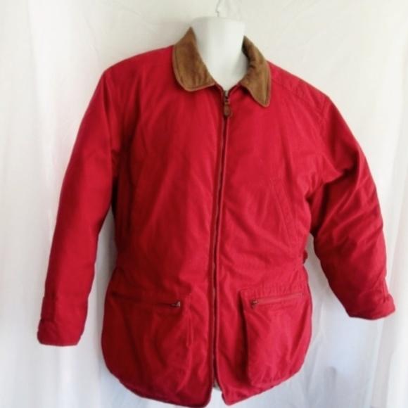 Eddie Bauer Jackets & Blazers - EDDIE BAUER Down JACKET Coat RED Leather